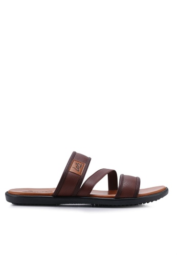 Louis Cuppers brown Casual Strappy Sandals 5EC11SHA4B8529GS_1