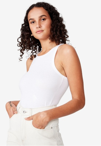 Cotton On white The Turn Back Tank Top 8F656AAA604C11GS_1