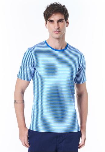 United Colors of Benetton blue Striped T-shirt 4E0DBAA13008CCGS_1
