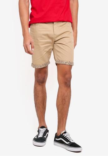 !Solid 米褐色 休閒短褲 8C363AAF4C8F23GS_1