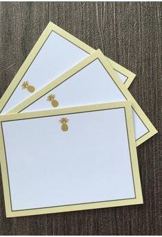 Gold Pineapple Notecards - 12pcs/set