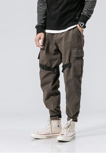 hk-ehunter grey Casual Regular Fit Pants A6FF5AA1AD6C40GS_1