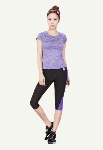 B-Code black ZYG5002B-Lady Quick Drying Running Fitness Yoga Sports Leggings-Black C3CCEAA9A858A4GS_1