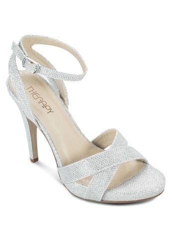 閃飾交叉zalora taiwan 時尚購物網繞踝高跟鞋, 女鞋, 鞋