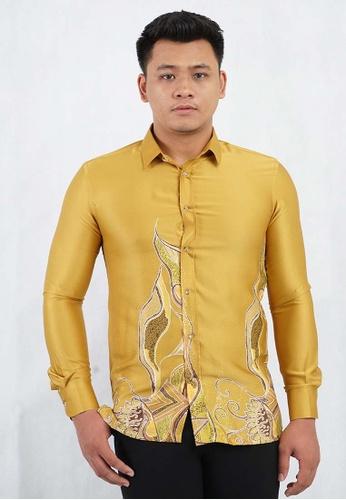 batik house my orange LONG SLEEVE BATIK MALAYSIA BHBM02-101 (ORANGE ) 47CF0AA46C4B13GS_1