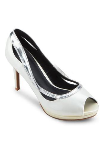 露esprit 見工趾鏤空高跟鞋, 女鞋, 鞋