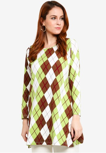 Aqeela Muslimah Wear green Basic Top B7159AA259E6E1GS_1