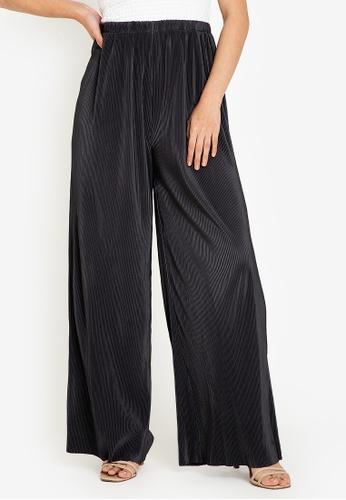 ZALORA BASICS grey Micro Pleats Pants F929DAA0953DD6GS_1