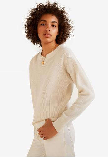 Mango beige Back Vent Sweater 7A6FCAAA85F0C5GS_1