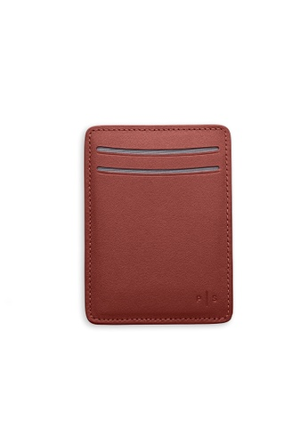 PLAIN SUPPLIES brown KAS I Cardholder Wallet in Cognac 7D66EACF78F91DGS_1