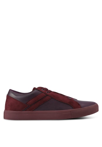 ZALORA red Contemporary Mixed Materials Sneakers 643EDSH9F5E07BGS_1