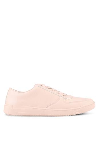 ZALORA beige Faux Leather Classic Sneakers E1CA7SHE10DDB3GS_1
