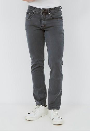 JB Boss grey Celana Panjang Jeans Saten Denim Stretch Regular Fit D00E5AA2FAA146GS_1