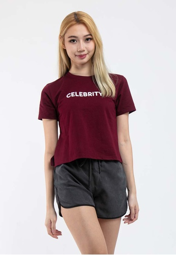 FOREST red Forest Ladies Cotton Terry Short Cut Tee - 821988 -50DKRed 7B966AAF3BAD9BGS_1
