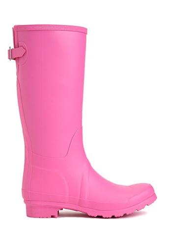 Twenty Eight Shoes 粉紅色 天然橡膠長雨靴 12049 A0B53SHDC8F33EGS_1