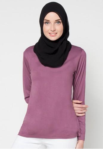JV Hasanah purple Lora Inner Blouse JV519AA97KZEID_1