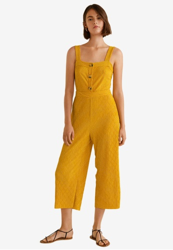 Mango yellow Polka-Dot Long Jumpsuit 69820AABFEED49GS_1