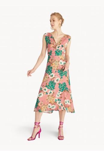 Pomelo pink Surplice Open Back Dress - Pink 6485FAA22625A5GS_1