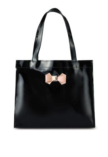 Velvet black Medium Shopper With Bow Detail 8A09AAC06252D2GS_1
