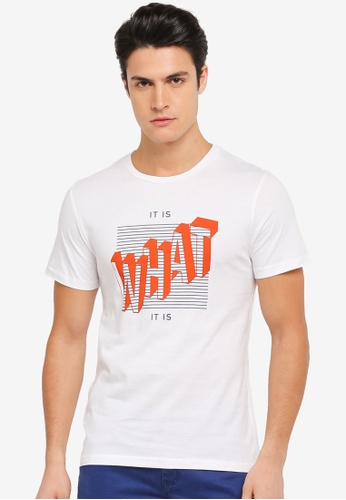 ZALORA white It Is What It Is Printed Tee 0EFE1AA123E9AEGS_1