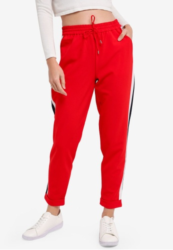 ONLY red ONLY ONE Panel Solid Pants 43AB1AAF237B7CGS_1