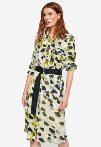 Mango beige Camo-Print Dress 4C98AAA2FF245CGS_1