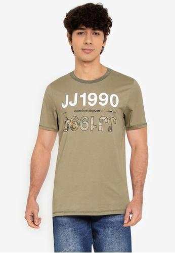Jack & Jones green Art Tee Short Sleeves Crew Neck Tee 3CF57AA81E912FGS_1