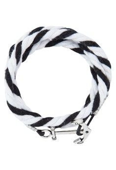 Men'S Triple Tour Wristband With Anchor