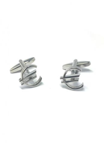 Splice Cufflinks silver Euro Dollars Cufflinks  SP744AC61EMOSG_1