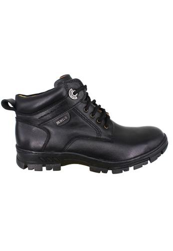 midzone black EAGLE HUNTER Men Handmade Genuine Leather Boots EH90136 Black 20BECSH598EBA3GS_1
