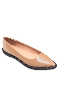 Zipper Pointed Toe Flats