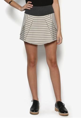 條紋傘擺迷你短裙, 服飾,esprit門市 裙子