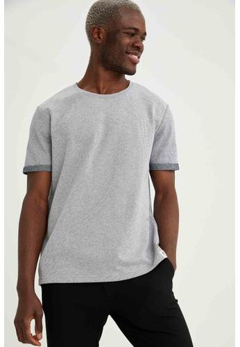 DeFacto grey Man Knitted T-Shirt 74A2FAA6B76512GS_1