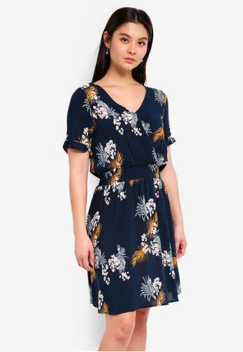 ICHI blue Mona Dress 3CA01AAFFBA997GS_1