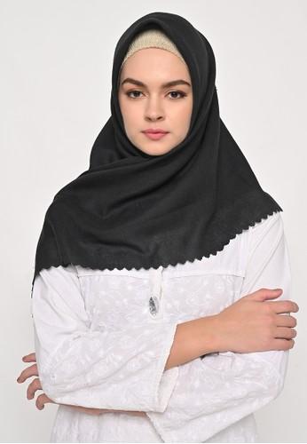 My Daily Hijab black S4 Voal Zaffron Lasercut Stupa Black AA43BAAD3BEB89GS_1