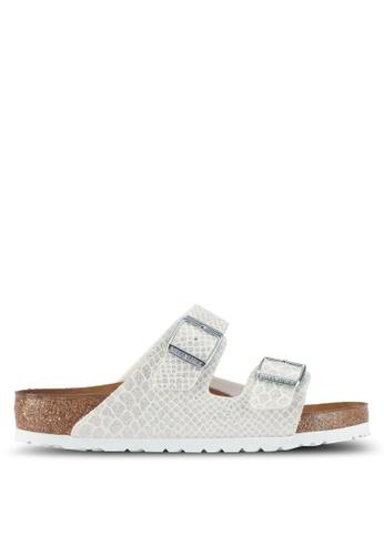 Birkenstock 白色 Arizona Magic Snake Sandals 42FD5SH9C67AE8GS_1