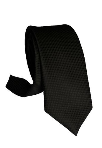 Well Suited black Microcheck Black Slim Necktie 5CE2EACE2777CEGS_1