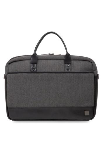 """knomo grey Princeton 15.6"""" Laptop Briefcase (Grey) 81DA7AC3E83AA1GS_1"""