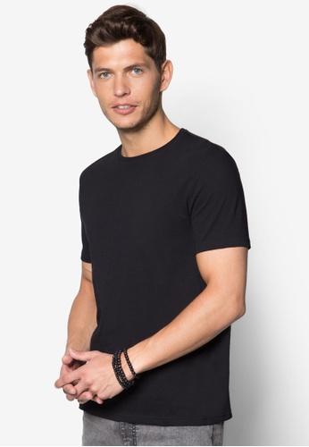 Topman black Black Slim Crew Neck T-shirt TO250AA25IVASG_1