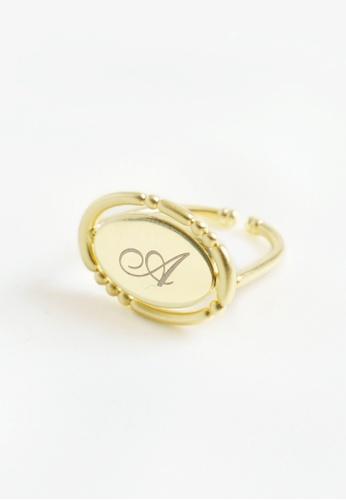 Paradeisos Jewellery gold The Mirror 925 Silver Golden Flip Ring FB986AC60CC916GS_1