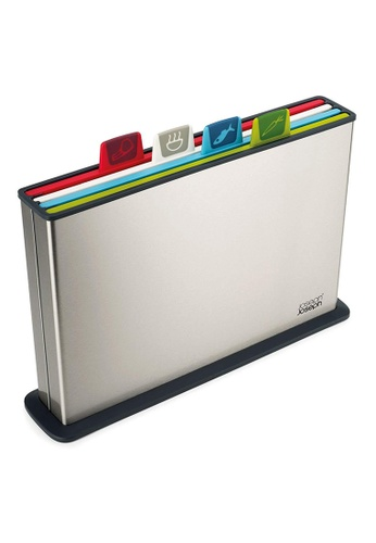 Joseph-Joseph silver Index Cutting Boards with Steel Case - Multicolor, Large B2441HLB37B48BGS_1