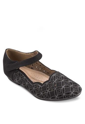 繞踝esprit outlet hk帶印花平底鞋, 女鞋, 鞋