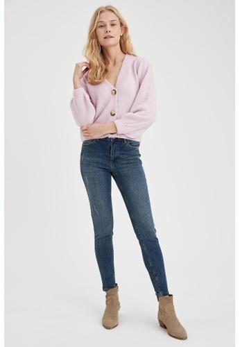 DeFacto blue High Waist Rebeca Skinny Jeans 7B81EAA2405C5DGS_1