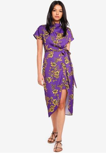 River Island purple Isabelle Waisted Dress 820FAAA20853E3GS_1