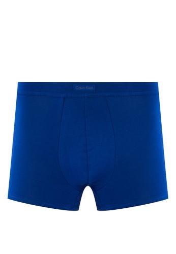 Calvin Klein blue Pima Low Rise Trunk - Calvin Klein Underwear CA221US18DIBMY_1