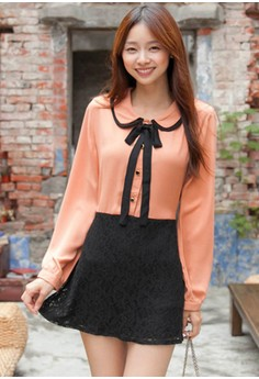 [IMPORTED] Doll Face Mini Lace Dress - Pink
