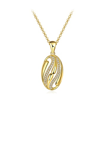 Glamorousky white Fashion Golden Pendant with Austrian Element Crystal and Necklace 8A46AAC6FEC4B2GS_1