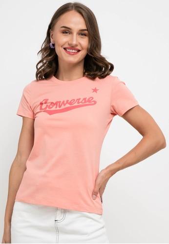 Converse pink Nova Center Front Logo Tee 65738AA5285A9BGS_1