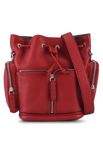 FENDI red Mon Tresor Bucket Bag (zt) E44BCAC1F36DBCGS_1
