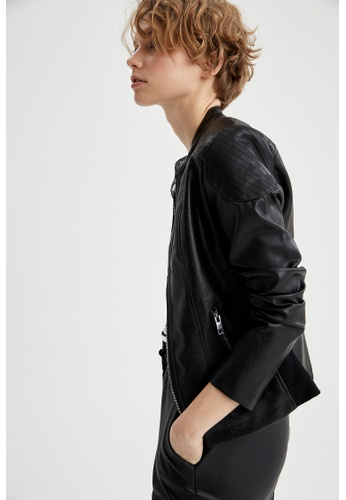DeFacto black Woman Outer Wear Mont 2D8ADAAEB88928GS_1